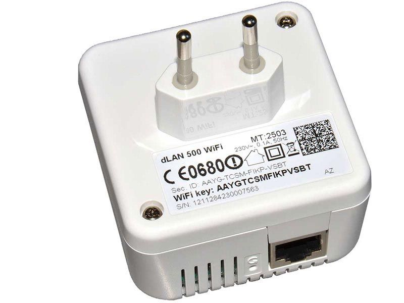 Powerline adapter Devolo dLAN® 500 Wi-Fi (вид сзади)